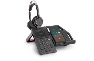 poly elara60 headset with mobile phone station
