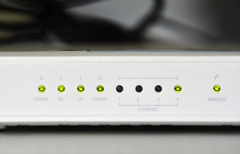 common router close up